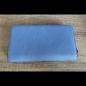 Gucci Bags - GUCCI 449347 Interlocking G Leather  Wallet, Blue